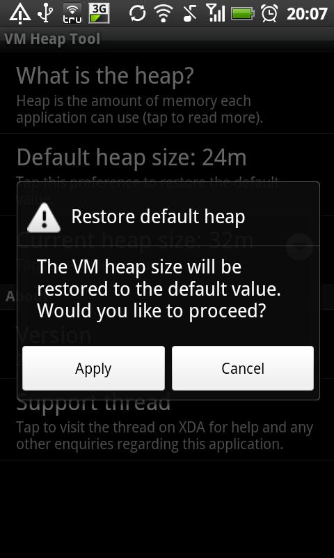 VM Heap Tool (root only) - screenshot