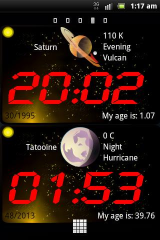 GalaxTime lite (時計ウィジェット)