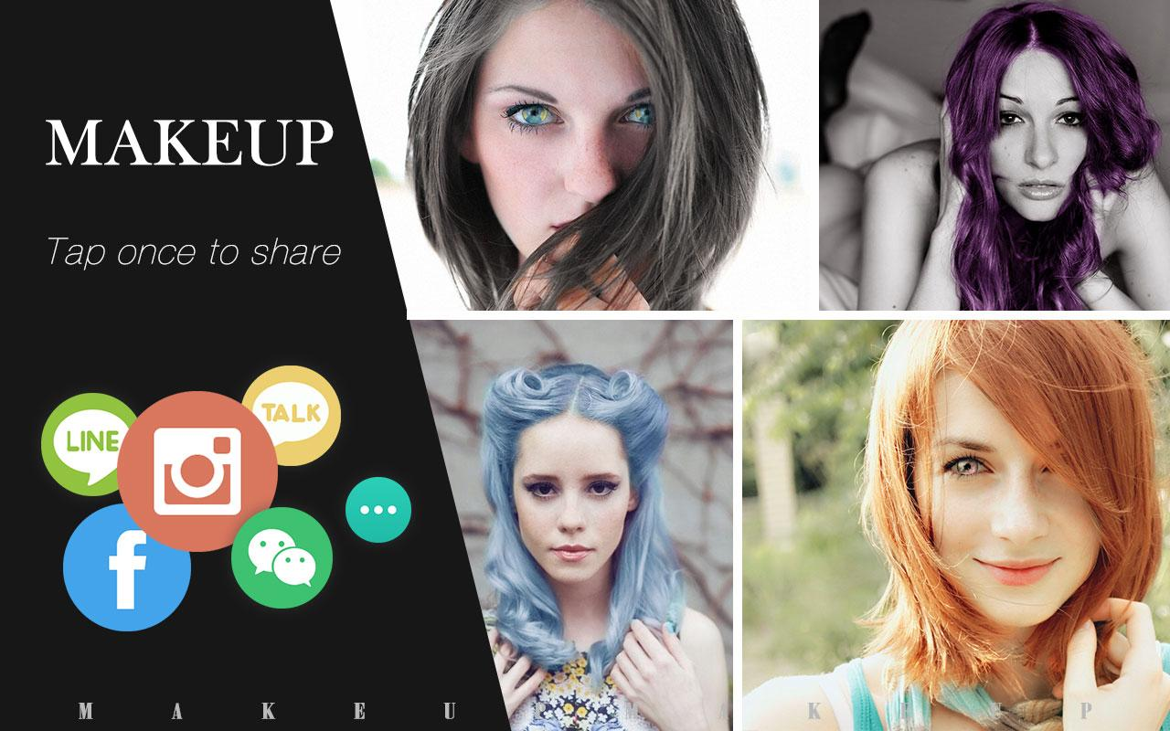 Wondrous Makeup Cam Amp Color Cosmetic Android Apps On Google Play Short Hairstyles Gunalazisus