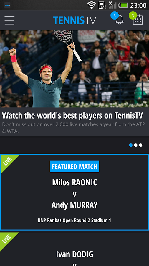 TennisTV:Live Streaming Tennis- screenshot