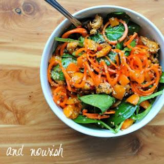 Mason Jar Carrot Noodle Salad