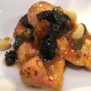 Apricot Glazed Chicken with Dried Plums and Sage