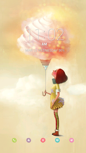 Sweety Buzz Launcher Theme