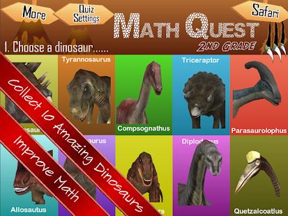 Math Quest Quiz Second Grade 2