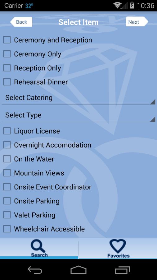My Wedding Venue Finder Screenshot