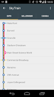 Screenshot of TransitDB Vancouver