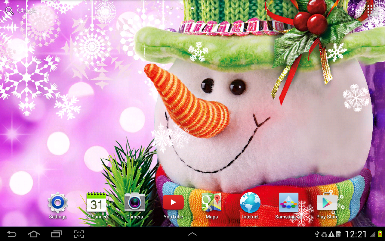 snowman live wallpaper android apps on google play