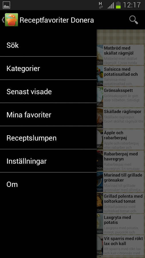 Receptfavoriter - screenshot