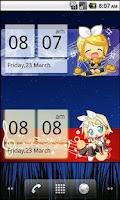 Screenshot of Chibi Rin Clock Widget (2x4)