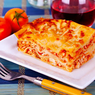 Three Cheese Lasagna.