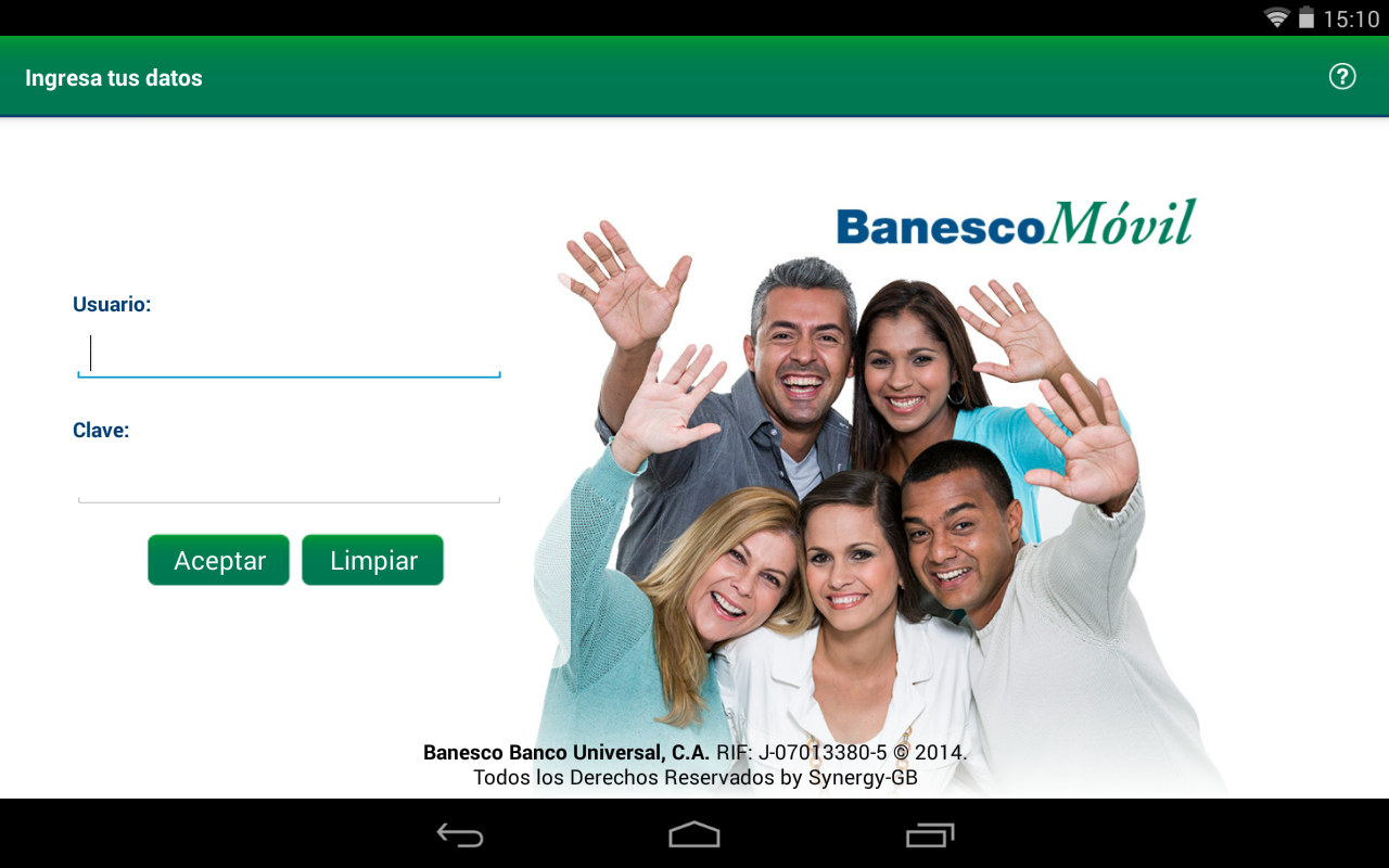 BanescoMóvil- screenshot