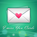 I Miss You Cards: Love icon