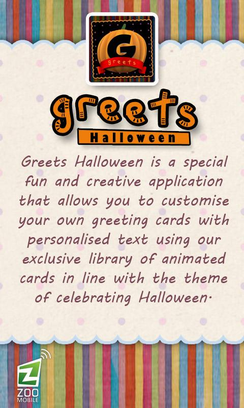 GREETS Halloween Greeting Card - screenshot