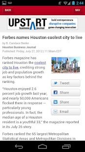 The Houston Business Journal- screenshot thumbnail