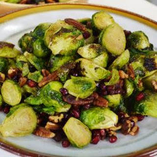 Pomegranate & Pecan Roasted Brussels Sprouts