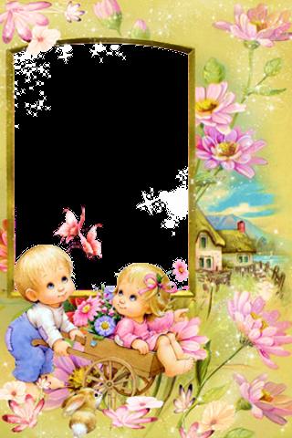 320 x 480 · 267 kB · png, Background Bingkai Foto Anak Anak