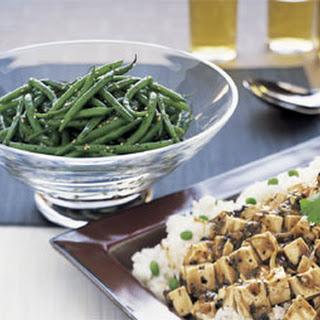 Wok-Seared Sesame Green Beans.