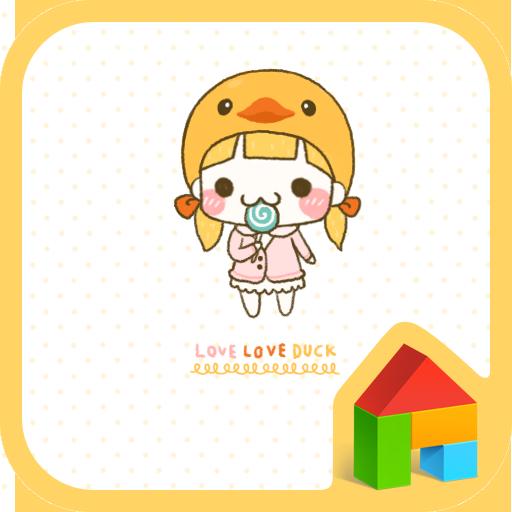 나나(러브러브덕) 도돌런처 테마 個人化 App LOGO-APP試玩