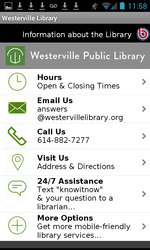 Westerville Public Library- screenshot