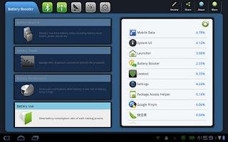 Screenshot of Battery Booster Tablet Version