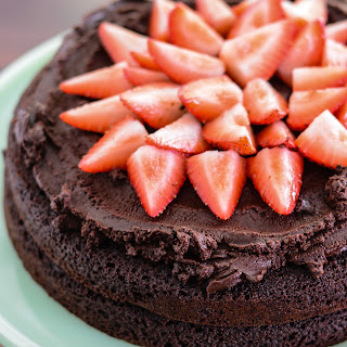 Strawberry Chocolate Paleo Cake.