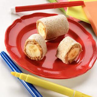 Peanut Butter & Banana Pinwheels