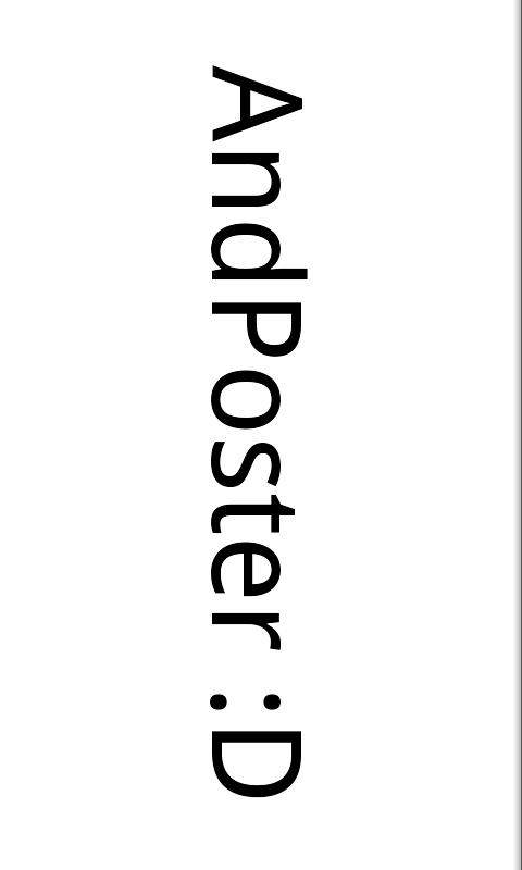 AndPoster- screenshot
