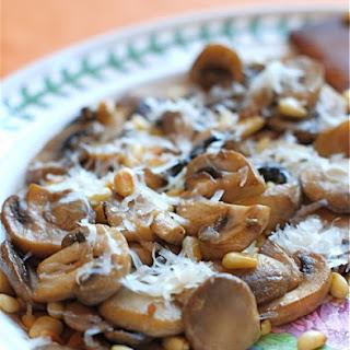 Mushrooms with Pine Nuts & Parmesan