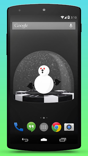 Poker Snowman Live Wallpaper