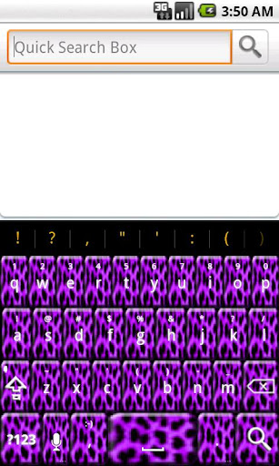 Purple Cheetah Keyboard Skin