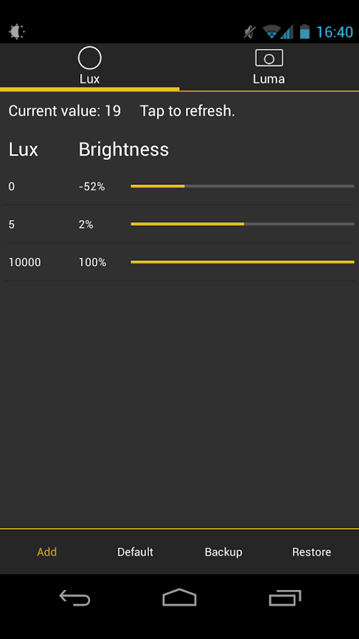 Lux Lite - screenshot
