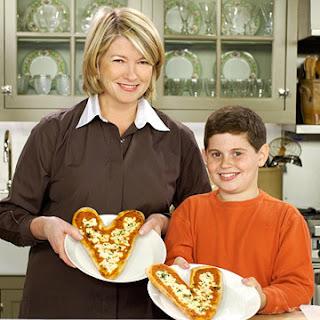 Individual Heart Pizzas