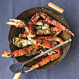 Singaporean Black Pepper Crab Legs.