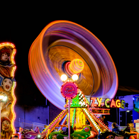 Coal Orchard Fair by Parker Lord - City,  Street & Park  Amusement Parks ( lights, somerset, lord parker photography, taunton, long exposure, night, fair, portrait,  )