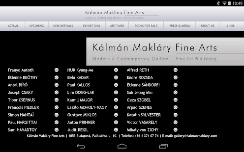 Kalman Maklary Fine Arts- screenshot thumbnail