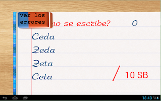 Screenshot of Escribién - Spanish words quiz