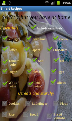 Recipes from ingredients