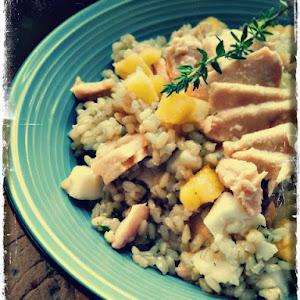 Exotic Salmon, Mozzarella, and Pineapple Salad