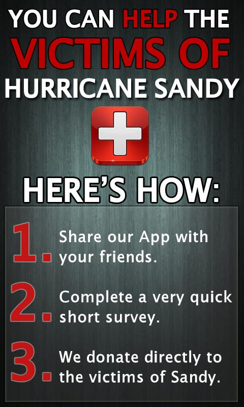 Help Hurricane Sandy Victims - screenshot