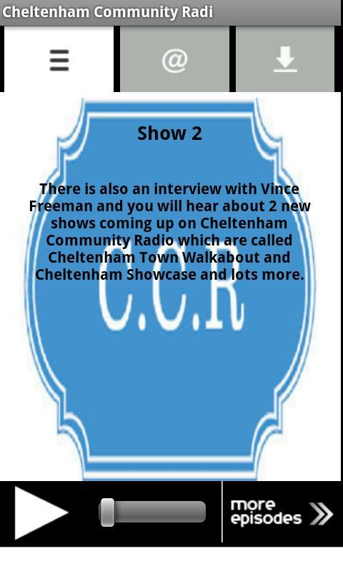 Cheltenham Community Radi- screenshot