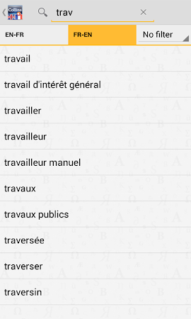 English<>French Dictionary 4.3.106 screenshot 75426
