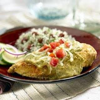 Pollo A La Alfredo Con Chile Poblano.