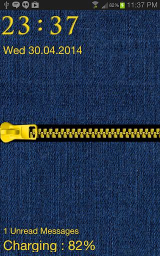 Blue Jean Zipper Go Locker