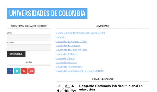 Universidades Colombia