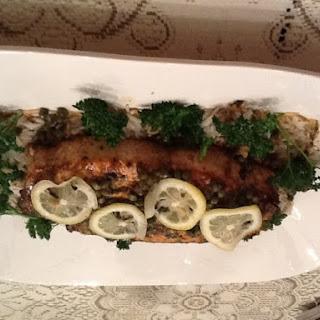 Broiled Lemon Caper Swordfish.