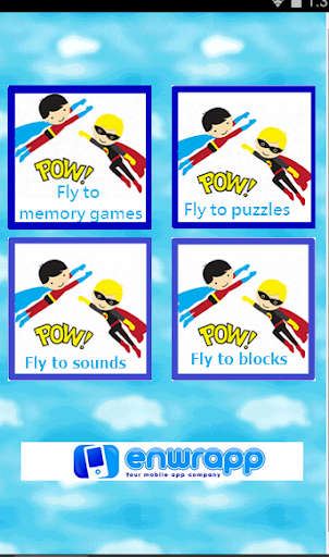 Super hero sounds and puzzles