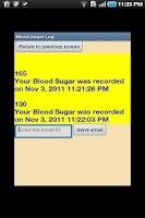 Screenshot of Blood Sugar Log ( Diabetes )