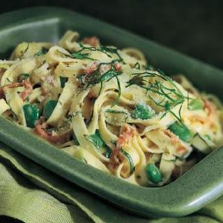 Tagliatelle with Fava Beans, Mascarpone and Prosciutto