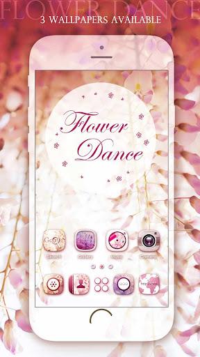 Flower Dance GO Launcher Theme