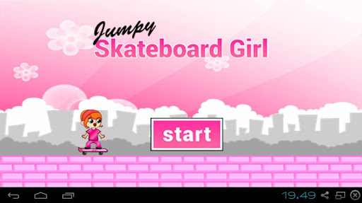 Jumpy Skateboard Girl